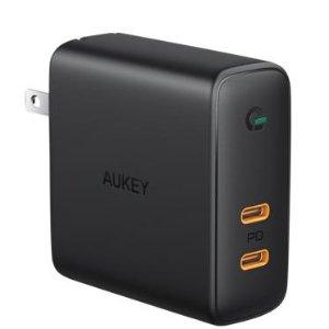Aukey Focus Duo 63W GaN Dual-Port PD Wall Charger