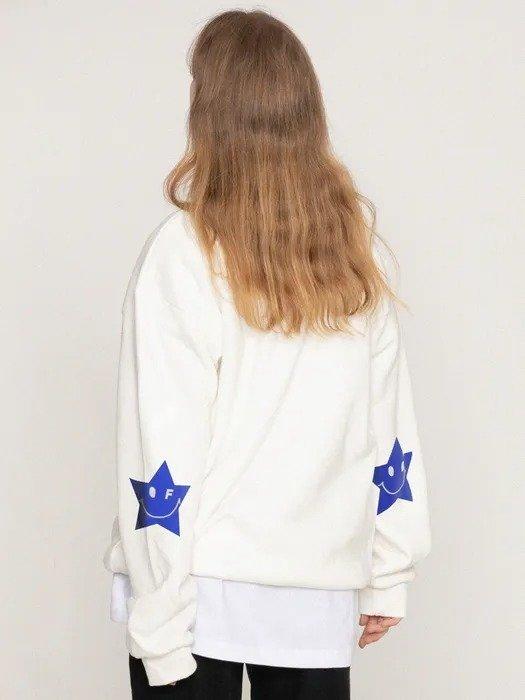 手肘星星笑脸卫衣