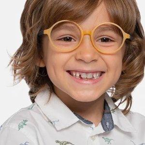 EyeBuyDirect黄色圆框儿童眼镜