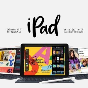 低至€355 iPad带回家Apple iPad 10.2英寸 平板电脑(最新款) 32GB/128GB可选