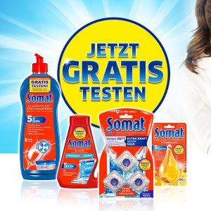每人可免费试用三种产品Somat 德国销量第一的清洁产品 免费用 清洁剂、除臭剂等都有