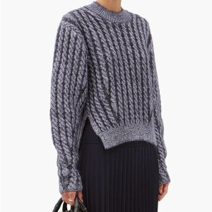 CHLOE5折,含55%羊毛羊毛混纺造型毛衣