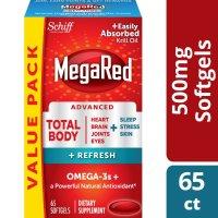 MegaRed 全能Omega-3 鱼油 500mg 65粒x2瓶