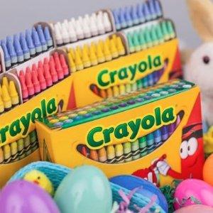 12色带香味彩色蜡笔仅$2.57史低价:Crayola 儿童涂色彩笔、剪刀套装等特卖