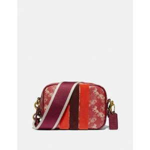 CoachLunar New Year Camera Bag 16 With Horse and Carriage Print and Varsity Stripe