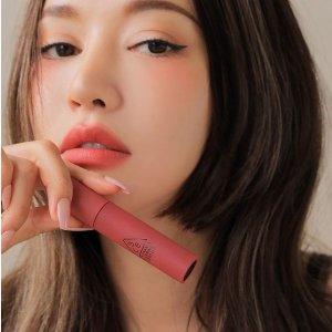 低至3.5折 €10收丝绒唇釉3CE 彩妆大促 韩国必入 性价比超高 收哑光唇膏、九宫格眼影