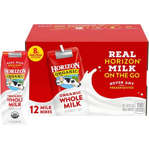 From $11.38Horizon Organic Low Fat Organic Milk Box, Strawberry, 8 Ounce (Pack of 12)
