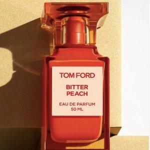 折后€59收+送黑管唇膏+送洁面啫喱!Tom Ford 私人调香#Bitter Peach 随身装来啦!男友求别换的香水!