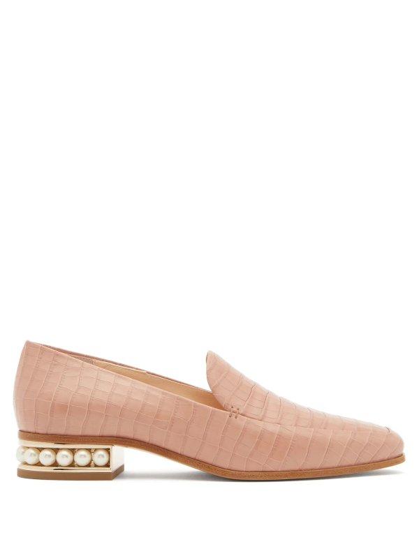Casati珍珠乐福鞋