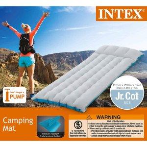 $9.82 (原价$26.69) 好价入折扣升级:Intex 可充气单人露营床垫 超舒服