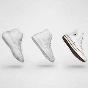 低至3.7折Converse 白色帆布鞋、运动鞋专场 谁的鞋柜里没有一双小白鞋