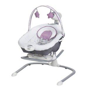 $69.99(原价$99.99)史低价:Graco Duet Sway 二合一宝宝电动躺椅,Rocker可拆卸单独用