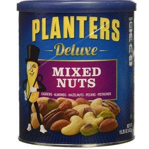 $5.72 免邮 销量冠军Planters 豪华混合果仁 15.25盎司