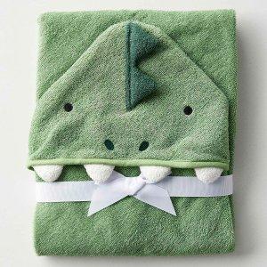 $6收2条装上新:Simons 儿童小毛巾、连帽浴巾热卖   棉柔可爱童趣满满