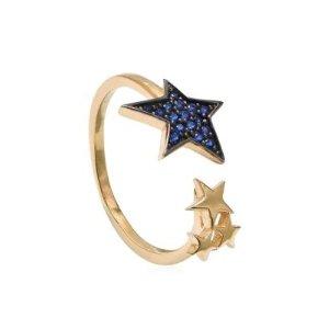 Gabi RielleCubic Zirconia Adjustable Star Ring