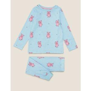 m&s粉红猪睡衣套装 (2-15岁)