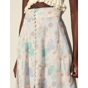 SandroLong printed skirt