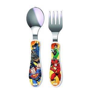 $2.99NUK Justice League Dinnerware Utensil Set 2pk (Batman/Justice League)  @ Amazon