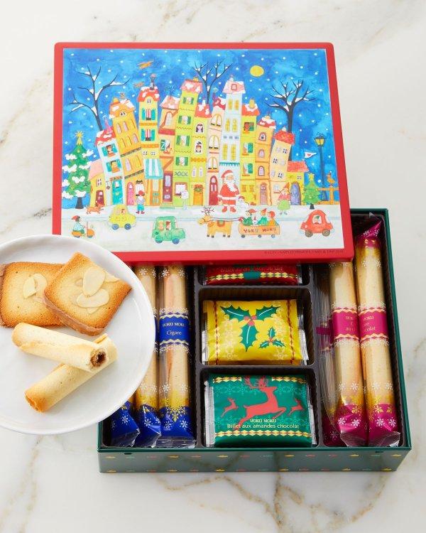 节日款饼干蛋卷礼盒