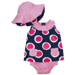 $5.5 原价$10.99Gerber 女宝宝服饰三件套(帽子 短裙 短裤) 多款可选