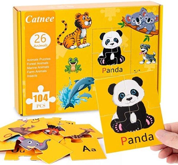 字母动物拼图