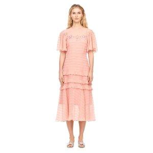 Pinwheel Eyelet Midi Dress | Rebecca Taylor