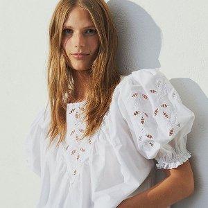 低至2.8折 €9收kitty短袖H&M 初恋白色系单品专场 永远不过时的百搭色