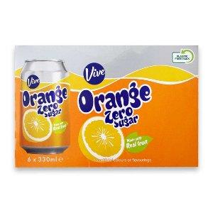 Vive 无糖橙汁 6x330ml