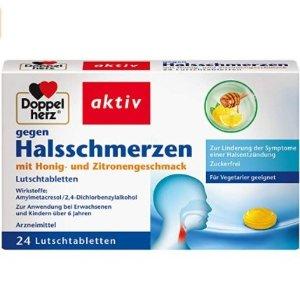 折后仅€3.58 一盒包含24片Doppelherz 双心润喉糖热促 缓解咽喉不适症状