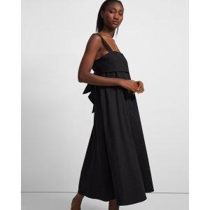 TheoryTie-Back Dress in Good Linen