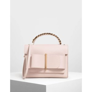 Charles & KeithPink Bow Buckle Chain Top Handle Bag | CHARLES & KEITH US