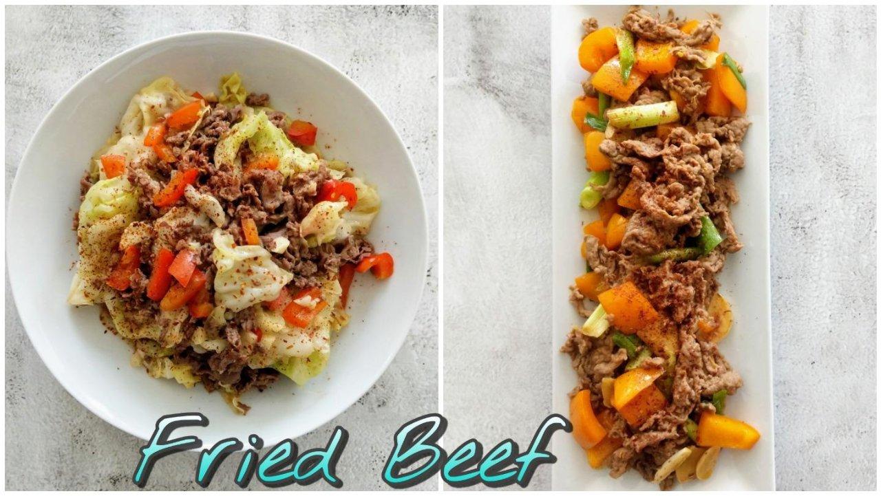 美食DIY+快手菜食谱分享|葱爆牛肉片&包菜炒牛肉,两道牛肉入味又不过老的快炒菜