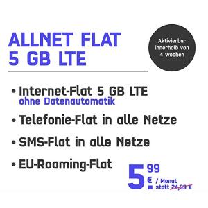 可以代号入网 开通费现在只要1欧元临时:mobilcom-debitel 包月所有短信电话+5GB LTE网络+欧洲漫游只要5.99欧 原价24.欧