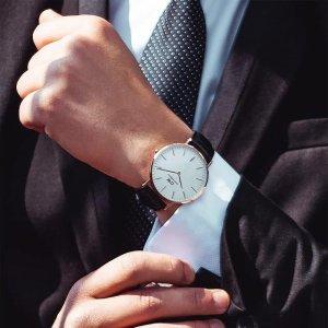 定价优势 $115(官网原价$305)史低价:Daniel Wellington 男士0107DW  40mm 复古学院手表
