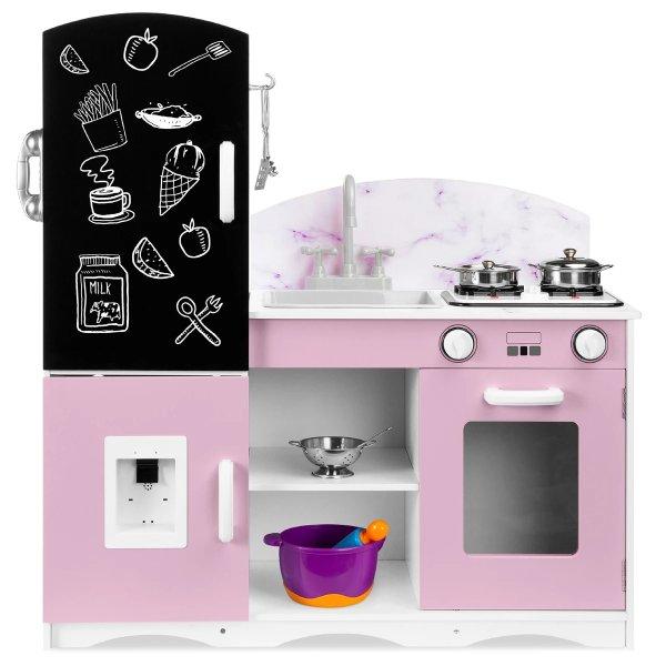 儿童豪华木质小厨房+厨具套装