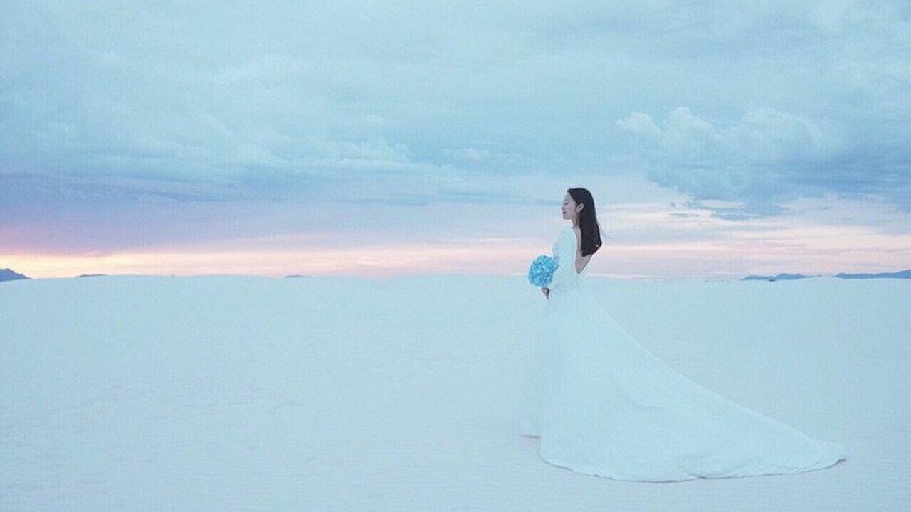 愿你看遍世界风景,拥有洁白爱情 | 白色仙境背景婚纱照,棉花堡&白沙国家公园