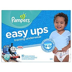 Amazon.com: Pampers Easy Ups Training Pants Pull On Disposable Diapers for Boys Size 4 (2T-3T), 80 Count, SUPER: Health & Personal Care