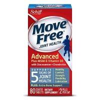 Move Free A加强型维骨力止痛+维生素D3 80粒