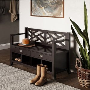 Simpli HomeAmherst Entryway Storage Bench