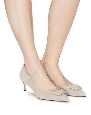 ONAKA - CRYSTAL BUCKLE POINTED PUMPS | PUMPS