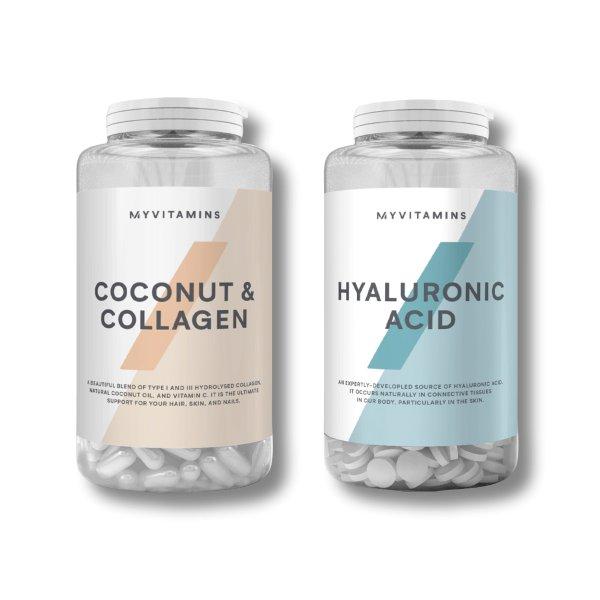 椰子胶原蛋白+玻尿酸片 美容套组