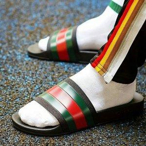 $185 (原价$250)Gucci 经典男士拼色拖鞋 偷偷降价