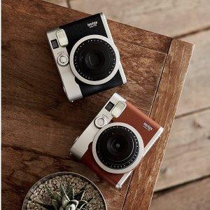 低至6折 Mini 90补货Fujifilm富士 Instax系列拍立得相机,相纸$19起