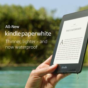 £89.99 新加防水 更大空间黒五价:全新第十代 Amazon Kindle Paperwhite 黑五闪促
