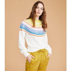 LOU & GREYRainbow Fairisle Sweater