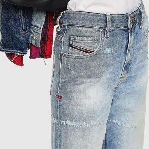 低至2.5折 Diesel牛仔裤£90FARFETCH 大牌牛仔服饰专场 百搭必备时尚单品
