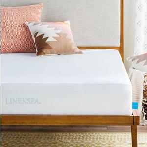 $16.99起LinenSpa Premium 防水防螨防过敏床垫保护套