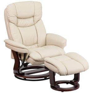 $265.26Flash Furniture 合成皮革旋转躺椅和脚凳套装
