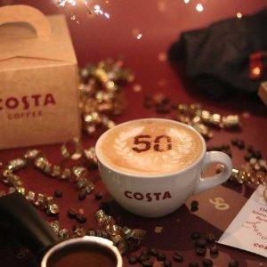 全英大部分门店通用COSTA 50周年庆 甜点、蛋糕、早餐周一到周三半价