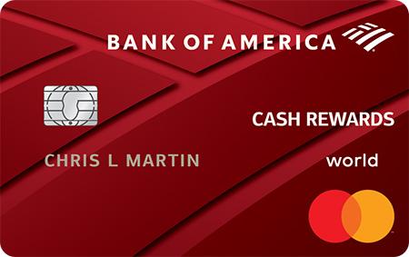bank of america cash rewards credit card categories